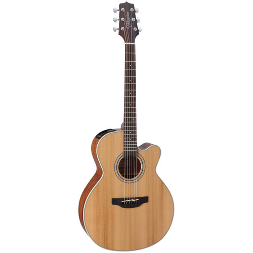 Takamine G Series GN20CE NEX Body Acoustic Electric Guitar, Natural Satin