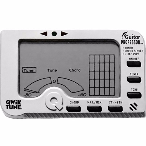 Qwik Tune GP-1 Guitar Professor 3-in-1 Tuner, Chord Finder and Pitch Pipe (GP1)