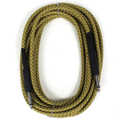 """Perfektion Heavy Duty 20ft Straight 1/4"""" Tweed Instrument Cable"""
