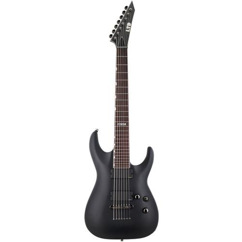 ESP LTD MH-417 Solid-Body 7-String Electric Guitar, Black Satin