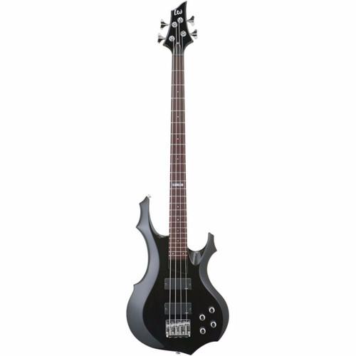 ESP LTD F-104 Electric 4-String Bass Guitar, Black (LF104BLK)