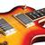 Hamer MONF-CS Monaco Single Cutaway Flame Top Electric Guitar, Cherry Sunburst