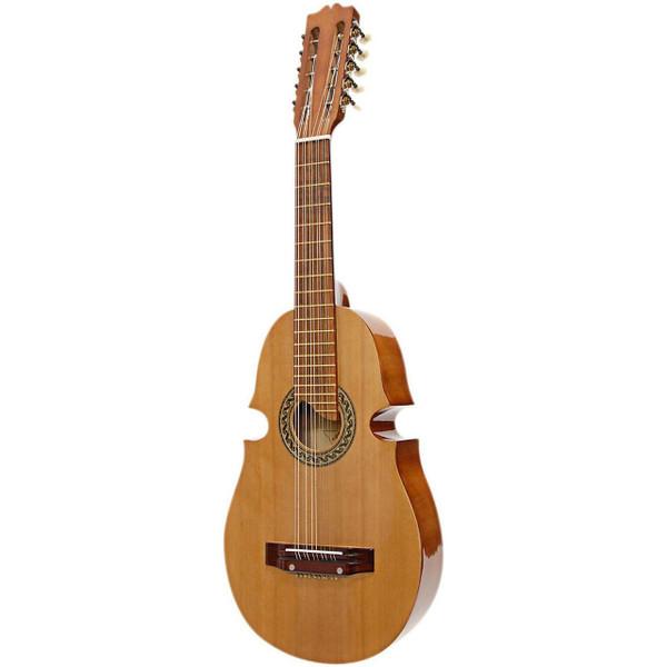 Paracho Elite Santiago 10-String Puerto Rican Classical Cuatro Guitar, Natural (SANTIAGO)