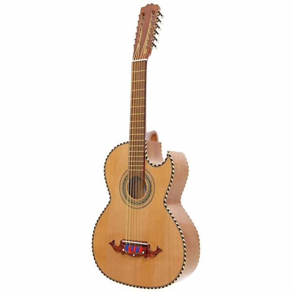 Paracho Elite Victoria Solid Cedar Top 12 String Bajo Sexto Guitar, Natural (VICTORIA)