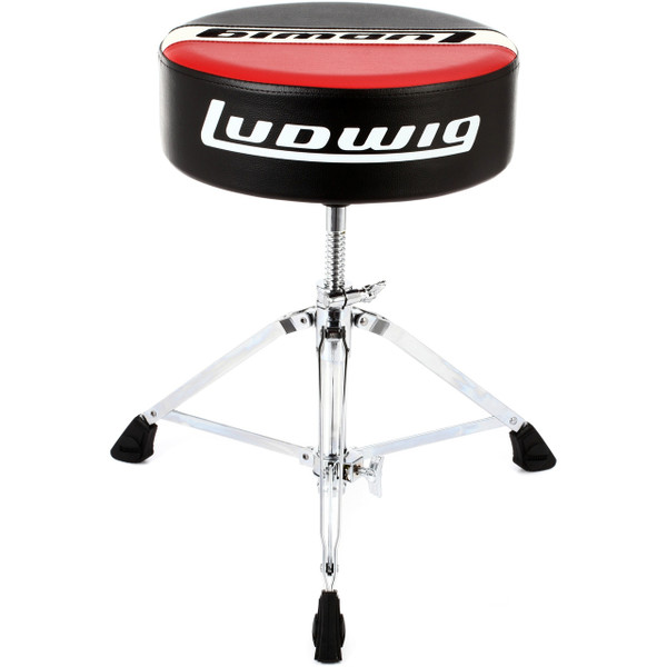 Ludwig LAP51TH Atlas Pro Round Drum Throne, Red/Black