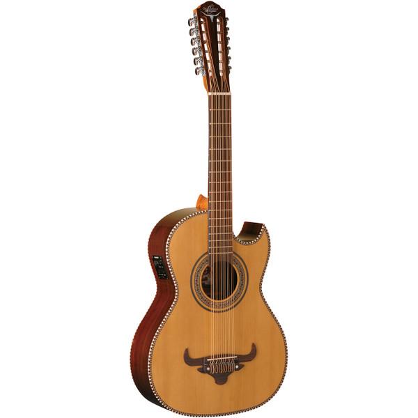 Oscar Schmidt OH52SE Acoustic-Electric Bajo Sexto Guitar with Gig Bag, Natural (OH52SE)