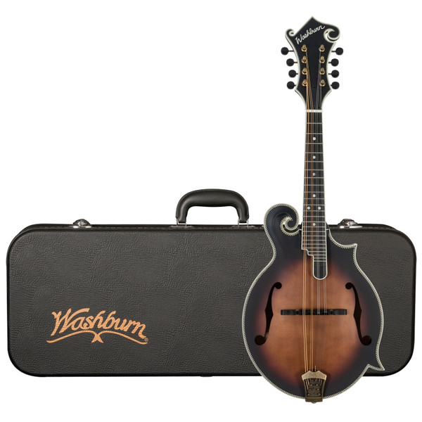 Washburn M118SWK Americana All-Solid F-Style Mandolin with Case, Vintage Natural Matte Finish