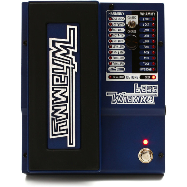 DigiTech Bass Whammy Pitch Shift Bass Guitar Effects Pedal, BWHAMMY