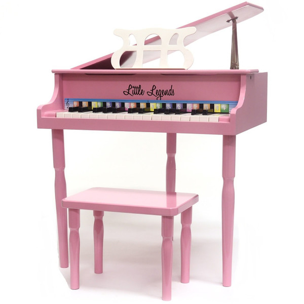 Little Legends LLBGD303P 3 Leg Baby Grand 30-Key Toy Piano w/ Bench, Pink