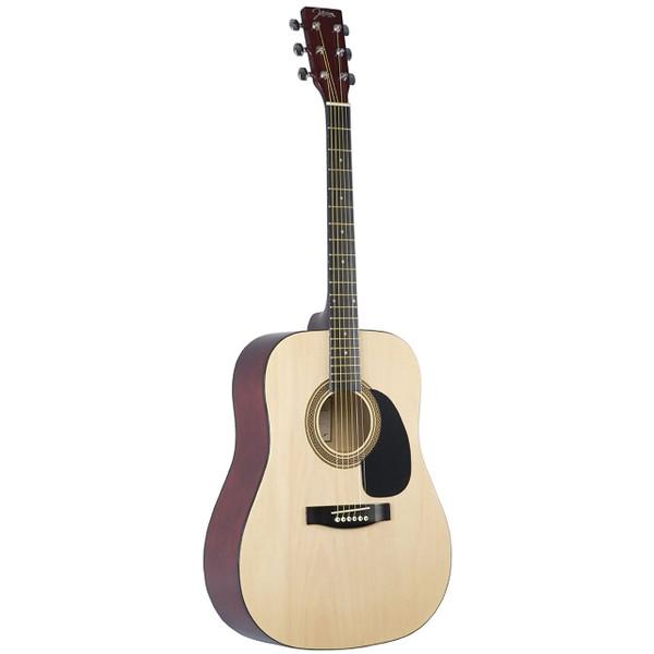 Johnson JG-610-N Player Series Full Size Dreadnought Acoustic Guitar, Natural