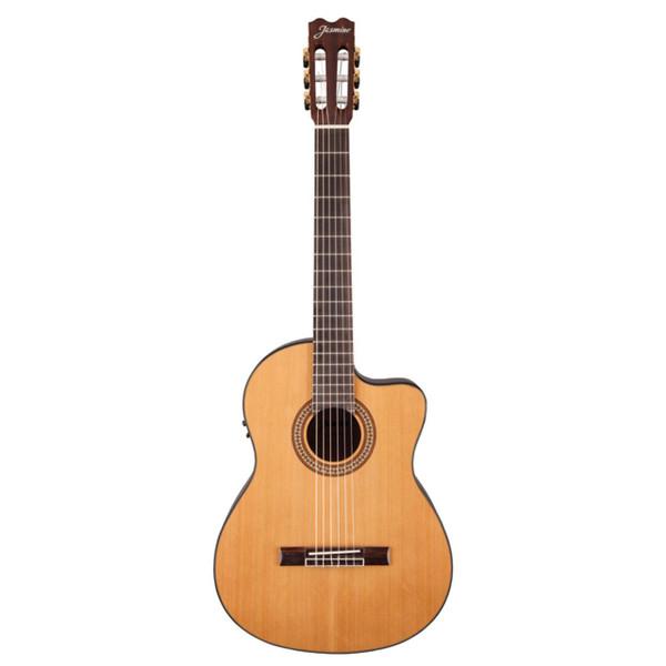 Jasmine JC27CE-NAT Classical Cutaway Acoustic Electric Guitar, Natural