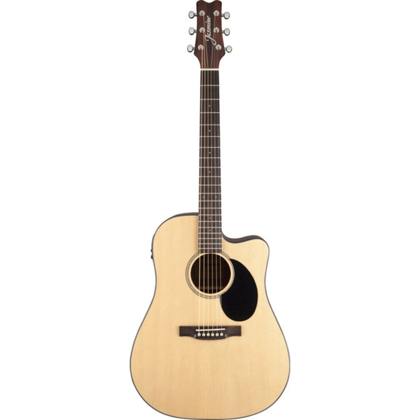 Jasmine J-Series JD36CE Dreadnought Acoustic-Electric Guitar, Natural (JD36CE-NAT)