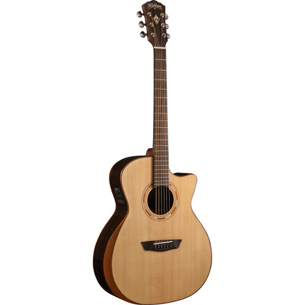Washburn WCG20SCE Comfort Series Spruce Top Grand Auditorium Acoustic Electric Guitar