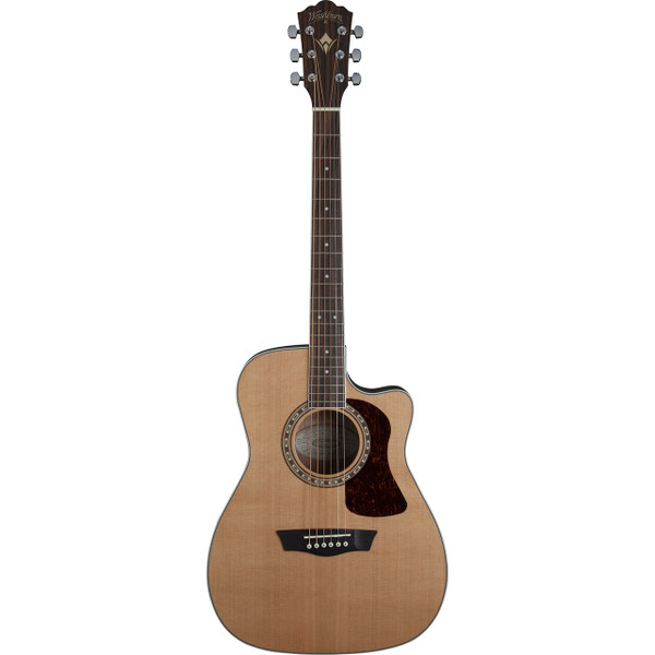Washburn Heritage Series HF11SCE Folk Style Acoustic Electric Guitar, Natural (HF11SCE )