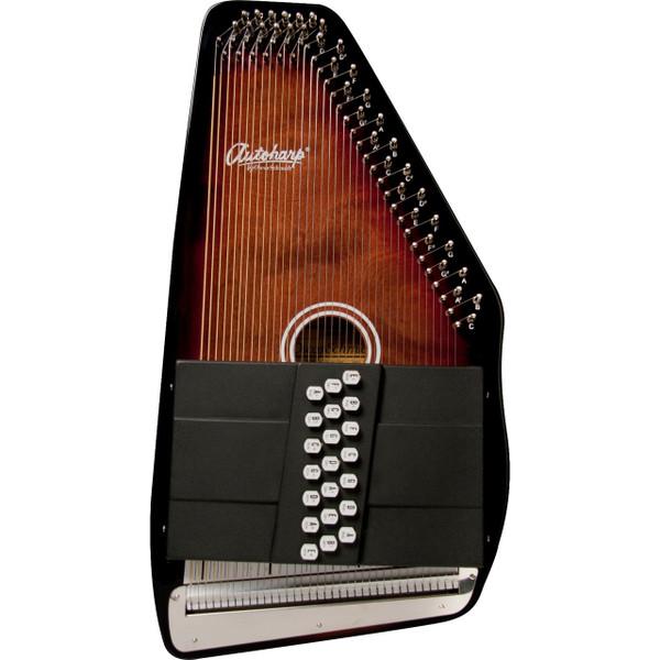 Oscar Schmidt OS21CE 21-Chord Classic Acoustic Electric Autoharp, Tobacco Sunburst