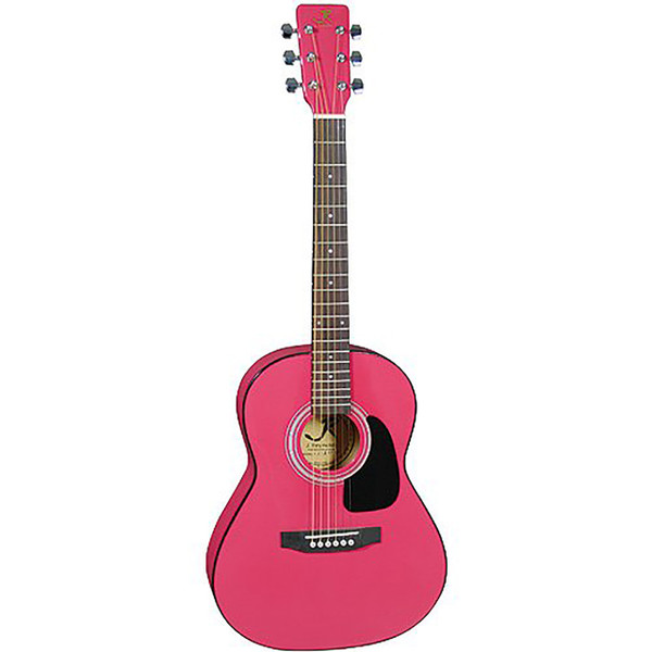 J Reynolds JR14PK 36-Inch Acoustic Guitar, 3/4 Size, Princess Pink