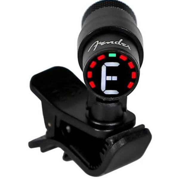 Fender Bullet Chromatic Clip-on Instrument Tuner with LED Screen (0239979002)