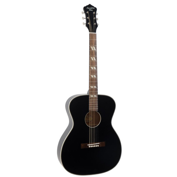 Recording King ROS-7-MBK Dirty 30's 000-Style Acoustic Guitar, Matte Black