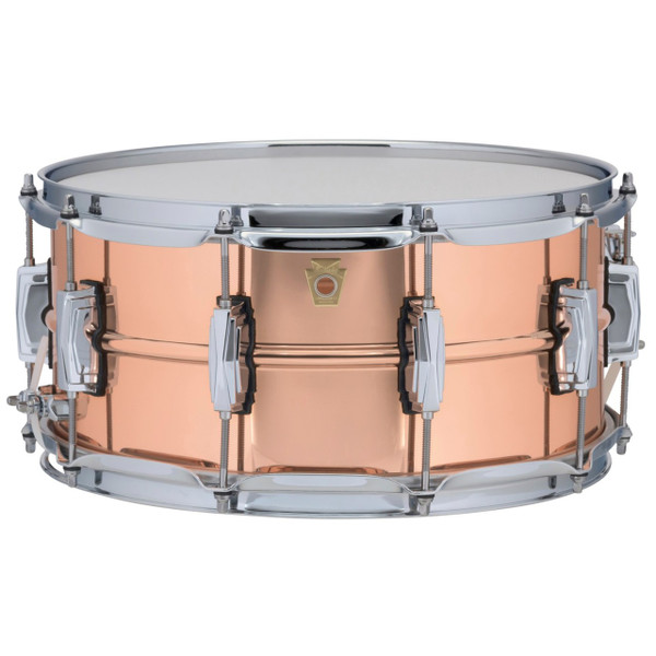 """Ludwig LC662 Copper Phonic 6.5""""x 14"""" Smooth Shell Snare Drum with Imperial Lugs"""