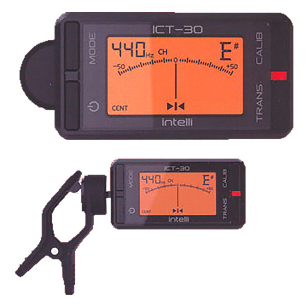 Intelli ICT-30 Chromatic Clip-On Tuner for Guitar, Bass, Uke, Violin