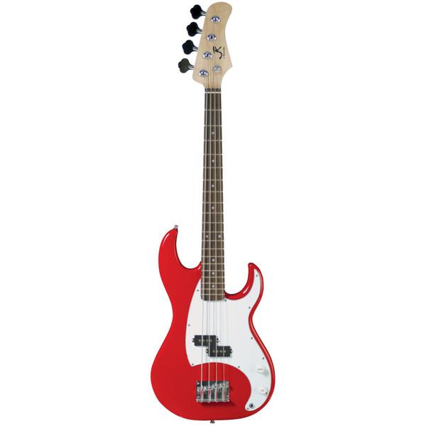 J. Reynolds JR9R 7/8 Size Electric Bass Guitar, Red