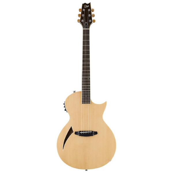 ESP LTD TL-6 Thinline Series 6-String Acoustic Electric Guitar, Natural