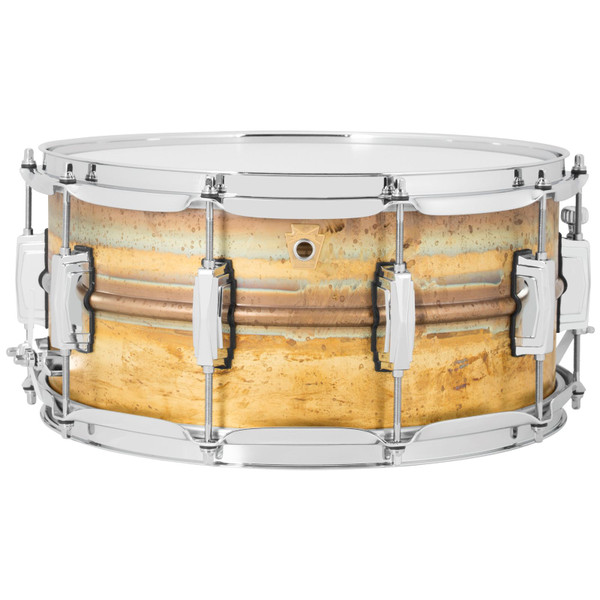 """Ludwig LB464R Raw Brass Phonic 6.5"""" x 14"""" Snare Drum with Imperial Lugs (LB464R)"""