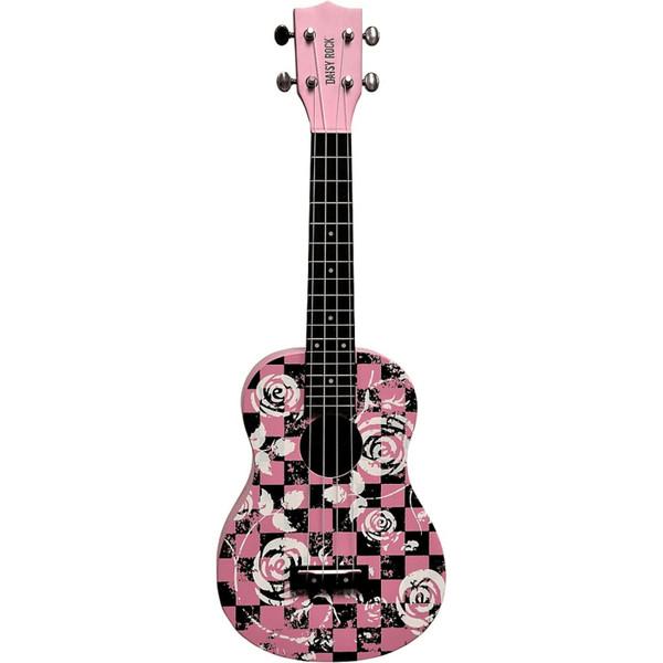 Daisy Rock DRU-3 Acoustic Concert Ukulele, Punk Pink
