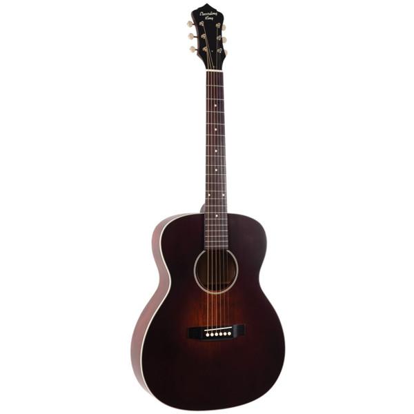 Recording King ROS-11-FE3 Series 11 Acoustic Electric 14-Fret 000-Style Body Guitar, Transparent Brownburst (ROS-11-FE3-TBR)