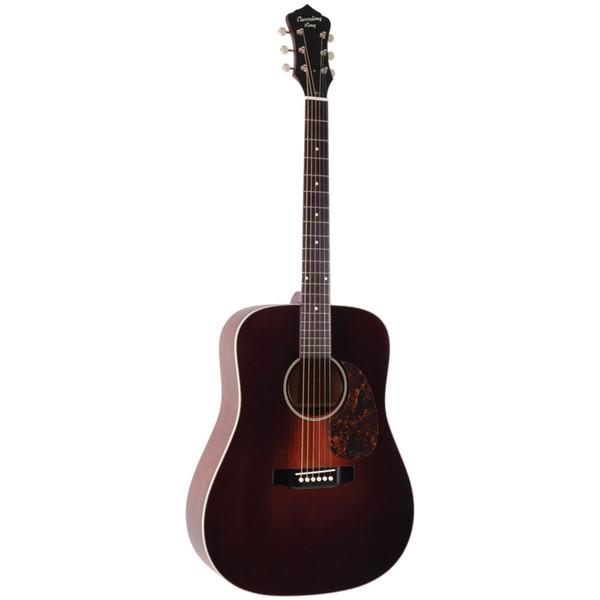 Recording King RDS-11-FE3 Series 11 Dreadnought Acoustic Electric Guitar, Transparent Brownburst (RDS-11-FE3-TBR)