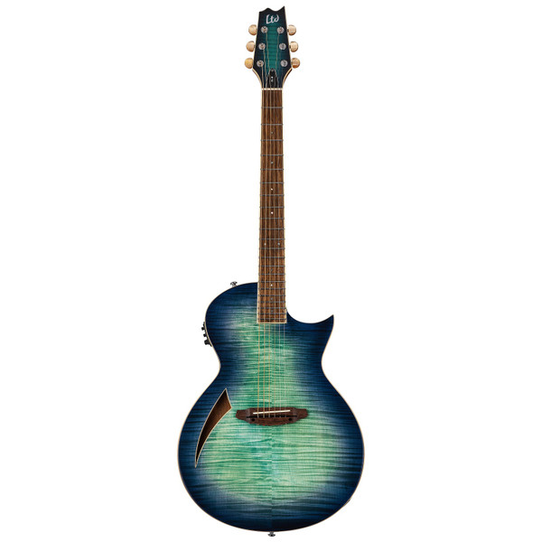 ESP LTD TL-6 ThinLine Acoustic Electric Guitar Flame Top Aqua Marine Burst (LTL6FMAQMB)
