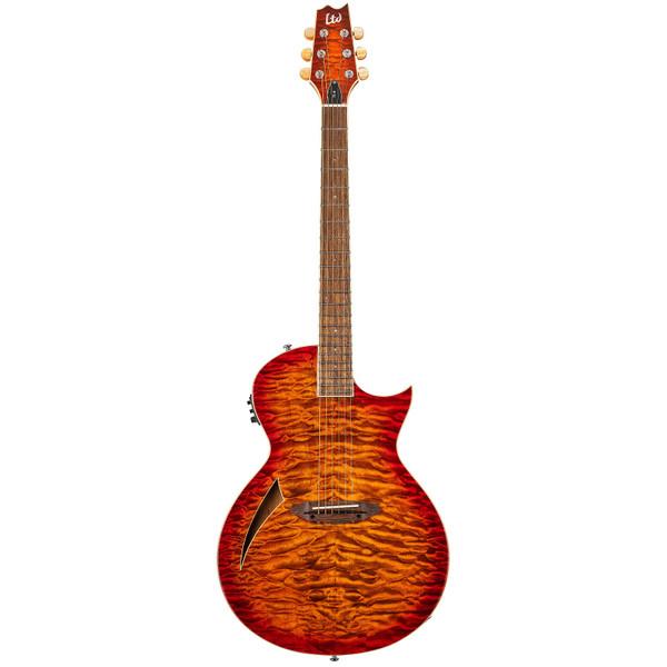 ESP LTD TL-6 ThinLine Acoustic Electric Guitar Quilt Top Tiger Eye Burst (LTL6QMTEB)