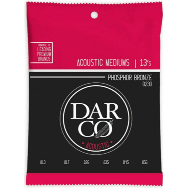 Martin D230 Darco Phosphor Bronze Acoustic Guitar Strings, Medium 13-56 (D230)