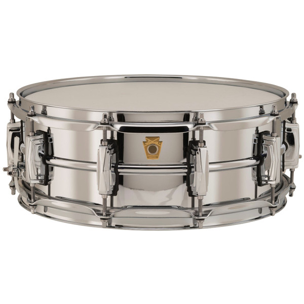 """Ludwig LB400B Supraphonic Chrome-Over-Brass 5""""x 14"""" Snare Drum, Imperial Lugs (LB400B)"""