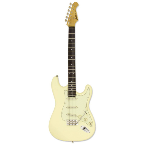 Aria Pro II STG-62-VW Modern Classic Solid Body Electric Guitar, Vintage White (STG-62-VW)