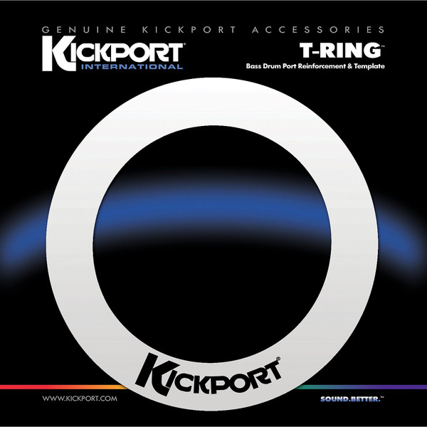 KickPort TRGWH T-Ring Bass Drum Hole Reinforcement Ring, White (TRGWH)