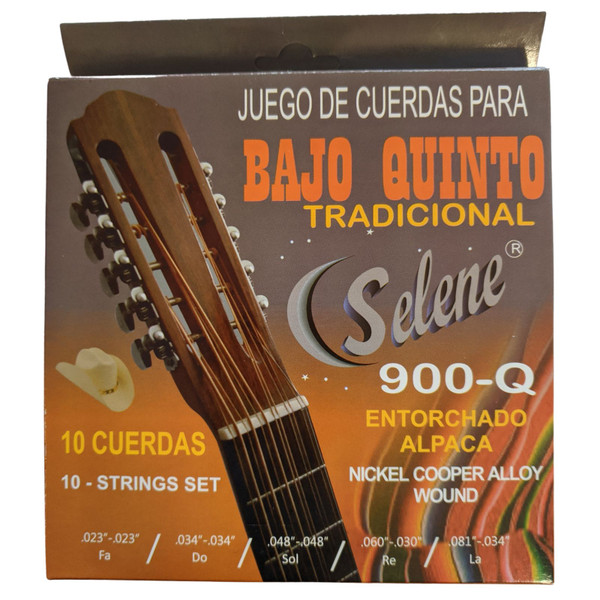 Paracho Elite BQ100S 10-String Bajo Quinto Acoustic Guitar Strings (BQ100S)