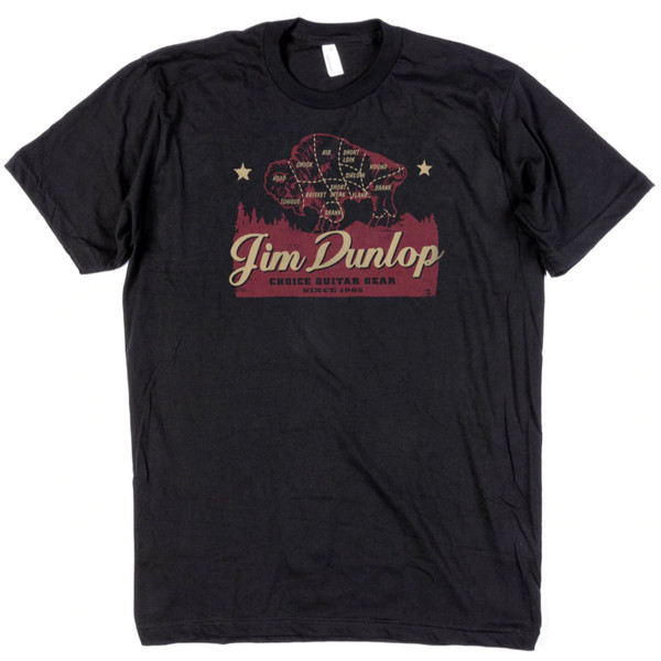 im Dunlop Americana Choice Guitar Gear Cotton T-Shirt, Black, Large (DSD07-MTS-L)