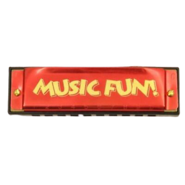 Hohner Music Fun 10-Hole Diatonic Harmonica, Key of C, Red (HOH-MF)
