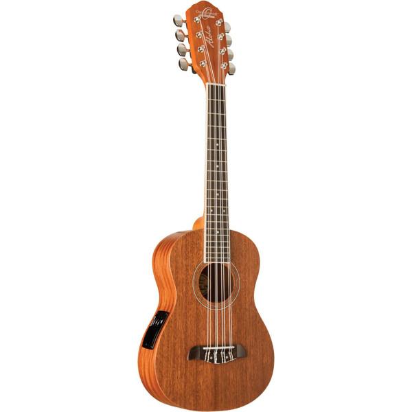 Oscar Schmidt OU28TE 8-String Acoustic Electric Tenor Ukulele, Natural Satin (OU28TE)