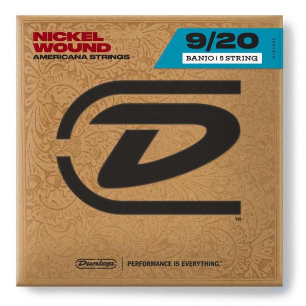 Dunlop DJN0920 Americana Series 5-String Tenor Banjo Strings, 9-20 (DJN0920 )