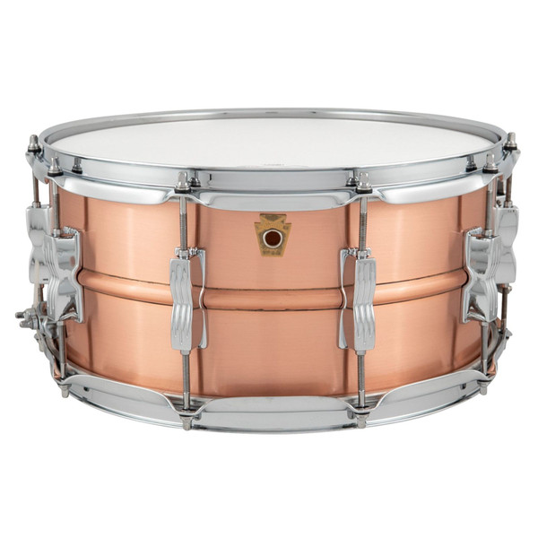 """Ludwig LC654B Acro Copper 6.5""""x 14"""" Snare Drum, Brushed Copper with Twin Lugs (LC654B)"""