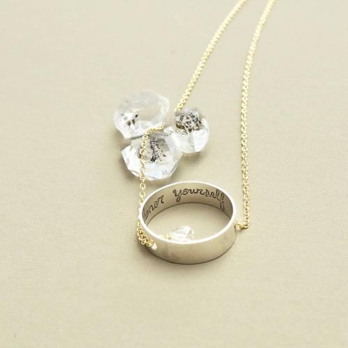 Honor Yourself Herkimer Diamond Necklace