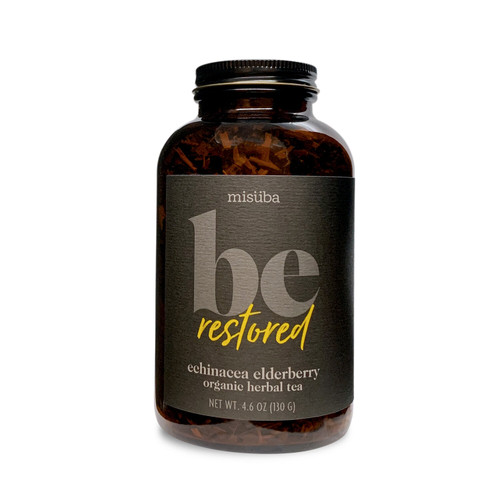 a mild and easy to drink blend that balances citrus and floral notes, this restorative elixir is laden with immune boosting properties and vitamins a and c — the combined goodness of powerhouse ingredients echinacea, elderberry and rosehips.*