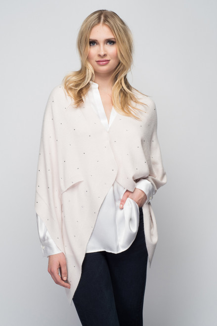 Cashmere Stole with Crystals in Shell