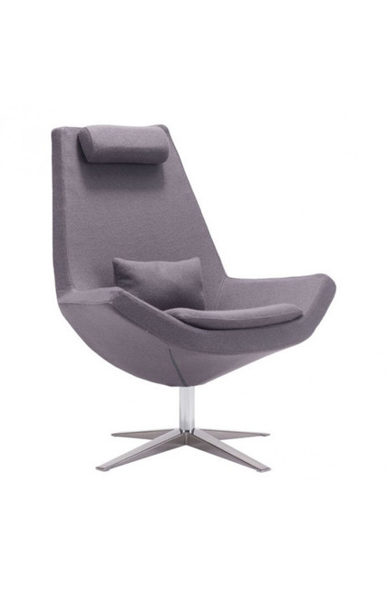 Zuo Modern Bruges Occasional Chair Charcoal Gray