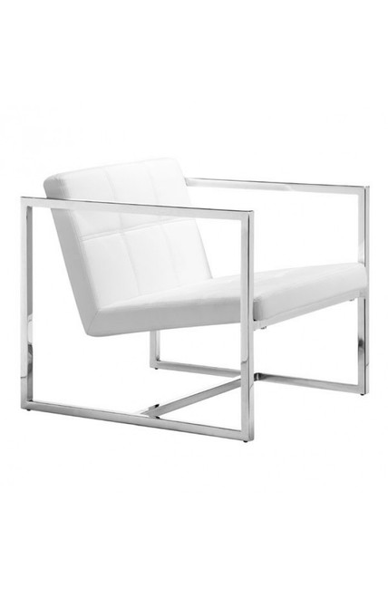 Zuo Modern Carbon Occasional Chair White