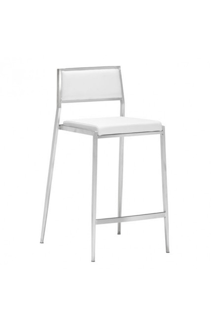 Zuo Modern Dolemite Counter Chair White