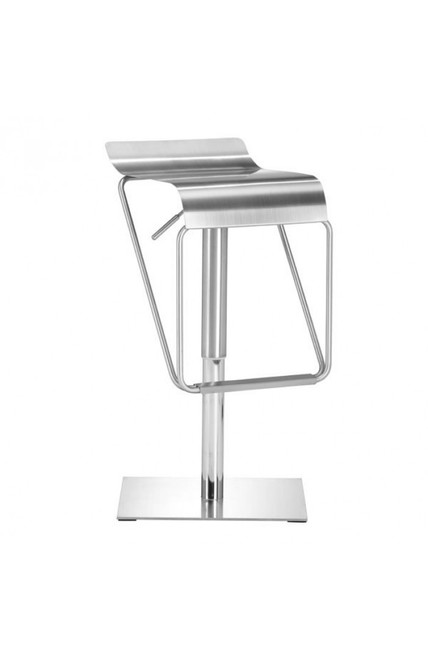 Zuo Modern Dazzer Barstool Brushed Stainless Steel