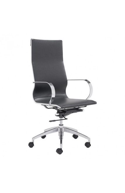 Zuo Modern Glider High Back Office Chair Black